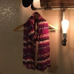 Beautiful Purple Tie-Dye Scarf